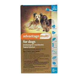 6 ct (9-20 lbs) Advantage Multi for Dogs Topical Solution