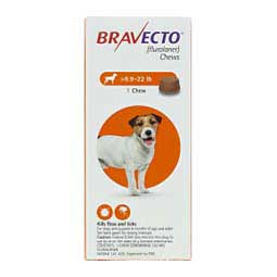 250 mg/1 ct (10-22 lbs) Bravecto Chews for Dogs