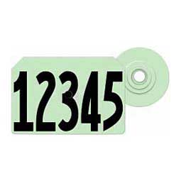 Green Allflex Global Hog Ear Tags - Numbered Integra Hog ID Tags