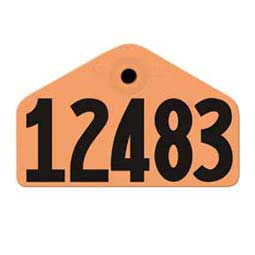 Orange Allflex Global Ear Tags - Hog Numbered ID Tags