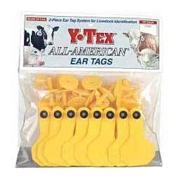 Yellow Y-Tex Ear Tags - Small Blank Cattle ID Tags
