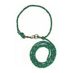 Green/White Livestock Adjustable Poly Neck Ropes