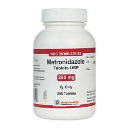 250 mg/250 ct Metronidazole Tablets for Dogs