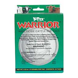 20 ct Warrior Insecticide Cattle Ear Tags