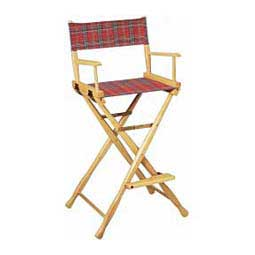 Red Plaid Directors Chair - Tall Plaid