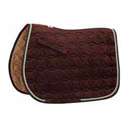 Chocolate/Lime/Ocean Roma Ecole Star Quilted Close Contact Saddle Pad