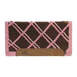Chocolate/Pink Woven Top Saddle Pad