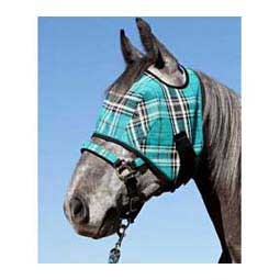 Black Ice Web Trimmed Fly Mask without Ears
