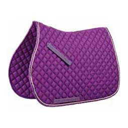 Purple/Lime Contrast All Purpose English Saddle Pad
