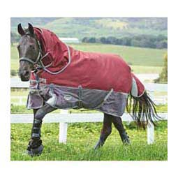 Burgundy/Grey Freestyle 1200 Denier Detach-a-Neck Medium Weight Horse Blanket