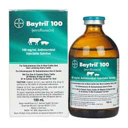 100 ml Baytril 100 Antimicrobial Injectable Solution for Cattle and Swine