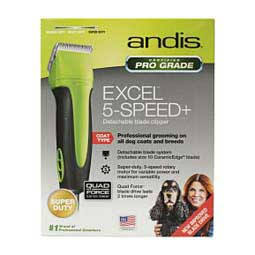 Green/Black Andis SMC Excel 5-Speed Clipper