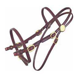 Brown (Brass Hardware) Pleasure Trail Bridle