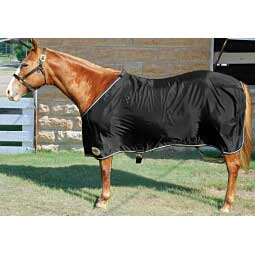 Black/Tan Nylon Horse Sheet