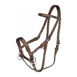 Brown Nylon Headstall-Bitless Bridle