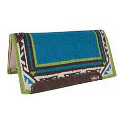 Turquoise/Lime ESP: Extra Sensory Protection Saddle Pad - Wool Top