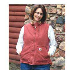 Vintage Rose Sandstone Mock Neck Sherpa Lined Womens Vest