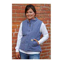 Blue Dusk Sandstone Mock Neck Sherpa Lined Womens Vest