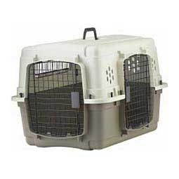 Double Door Portable Plastic Pet Crate