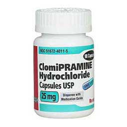 25 mg/90 ct Clomipramine Capsules for Dogs and Cats