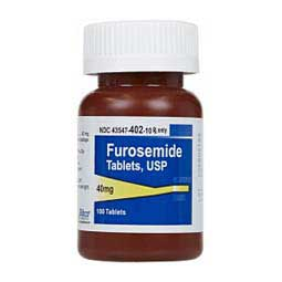 40 mg/100 ct Furosemide Tablets for Dogs and Cats