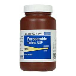 40 mg/1,000 ct Furosemide Tablets for Dogs and Cats
