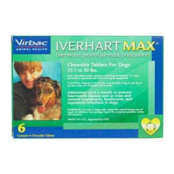 6 ct (25-50 lbs) Iverhart Max Chewable Tablets for Dogs