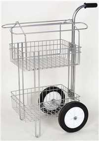 2 Tier Rolling Basket English and Western Saddle Rack and Cart