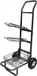 2 Tier Roll Along English and Western Saddle Rack and Tack Caddy