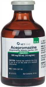 50 ml Acepromazine Maleate Injection for Dogs, Cats & Horses