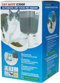 White Cat Mate C3000 Automatic Dry Food Pet Feeder for Cats and Small Dogs
