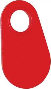 Red Cattle Neck Ear Tags - Blank Cattle ID Ear Tags