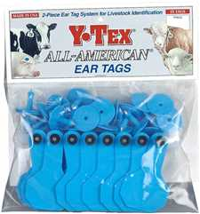 Y-Tex Ear Tags - Small Blank Cattle ID Tags