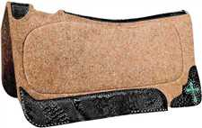 X Series Wool Felt Contour Roper Saddle Pad
