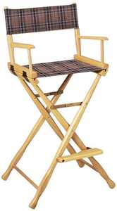 Directors Chair - Tall Plaid