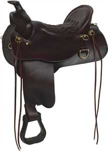 Brown Demo Saddle - High Plains Non-Tooled Trail Saddle