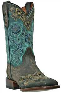 Blue Bird Womens Sanded Cowboy Certified Square Toe 11