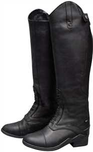 Black Womens Normandy Waterproof Field Boots