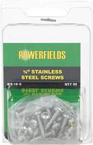 50 ct Safe-Fence Plastic Post Insulator Stainless Steel Screws