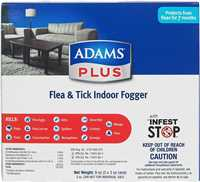 3 ct (3 oz each) Adams Plus Flea and Tick Indoor Fogger
