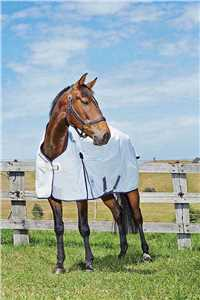 White/Navy Kool Coat Horse Sheet