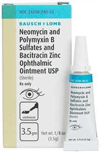 3.5 gm Neomycin-Polymyxin B Sulfates-Bacitracin Zinc Ophthalmic Ointment for Dogs and Cats