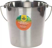 Indoor/Outdoor Stainless Steel Feed & Water Pail