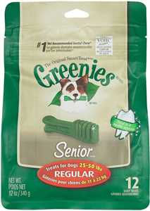 12 ct Regular (25-50 lb dog) Greenies Senior Treat Pak