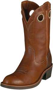Brown Mens Trail Hand Cowboy Boots