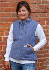 Ladies Sandstone Mock Neck Sherpa Lined Vest