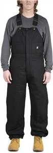 Black Deluxe Insulated Mens Bib Overalls
