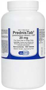 20 mg/500 ct Prednis Tabs for Dogs