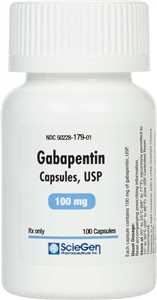 100 mg/100 ct capsules Gabapentin for Dogs and Cats