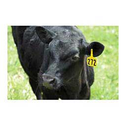 Lone Star EZ Numbered Medium Cattle ID Ear Tags Y-Tex